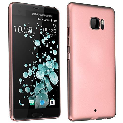 Cadorabo Coque pour HTC U Ultra en Metallic Or Rose - Housse Protection Rigide en Plastique Dur avec Anti-Choc et Anti-Rayures - Ultra Slim Fin Hard Case Cover Bumper