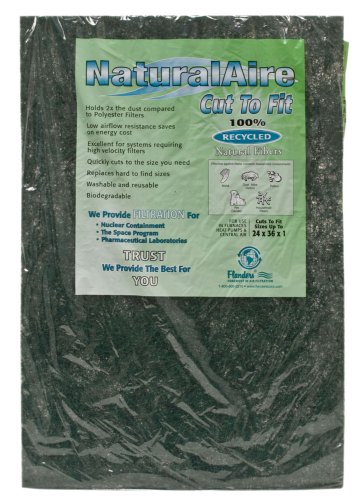 NaturalAire Cut-to-Fit Natural Fiber Air Filter, MERV 4, 24 x 36 x 1-Inch, 12-Pack