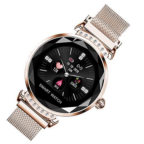ZYXM Smartwatch Fitness Tracker, waterdicht sporthorloge, activity met hartslag- en slaapmonitor, stappenteller, magneetband-armband, verkrijgbaar in vier kleuren