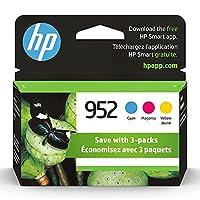 HP 952シアン、マゼンタ&イエローオリジナルインクカートリッジ、3パック(N9K27AN)、N9K27AN#140