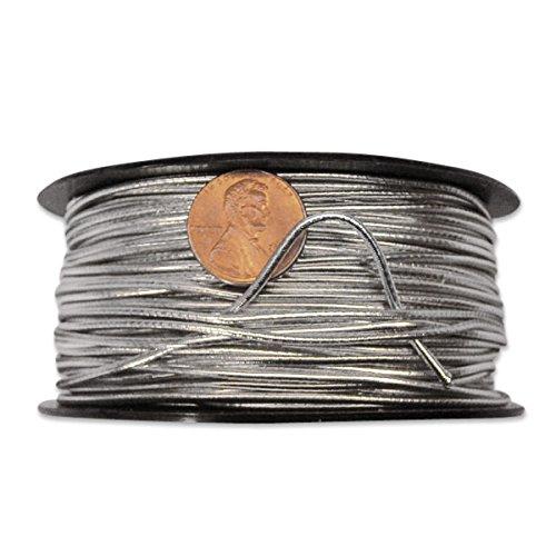 Silver Elastic Cord 2 mm X 50 Yards