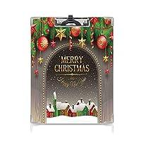 クリップボード Christmas Decorations プレゼントA4 バインダー 用箋挟 クロス貼 A4 短辺とじ