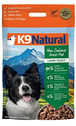 K9 Natural Freeze Dried Dog Food Lamb 8Lb