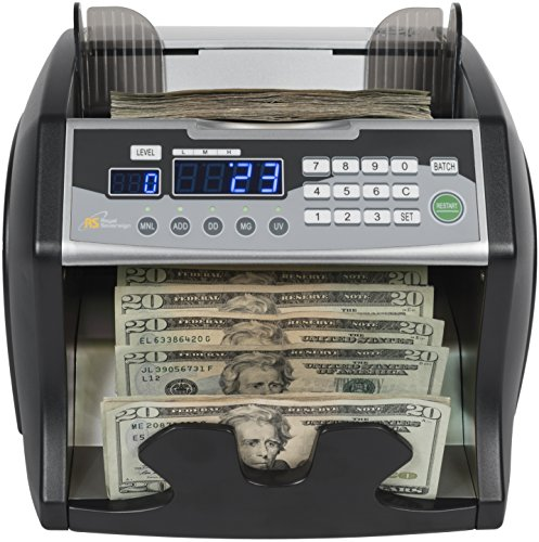 Royal Sovereign High-Speed Bill Counter, Counterfeit Detection (UV, MG, IR), Front Load (RBC-1003BK)