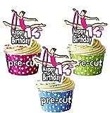 Decoraciones comestibles para cupcakes (12 unidades)