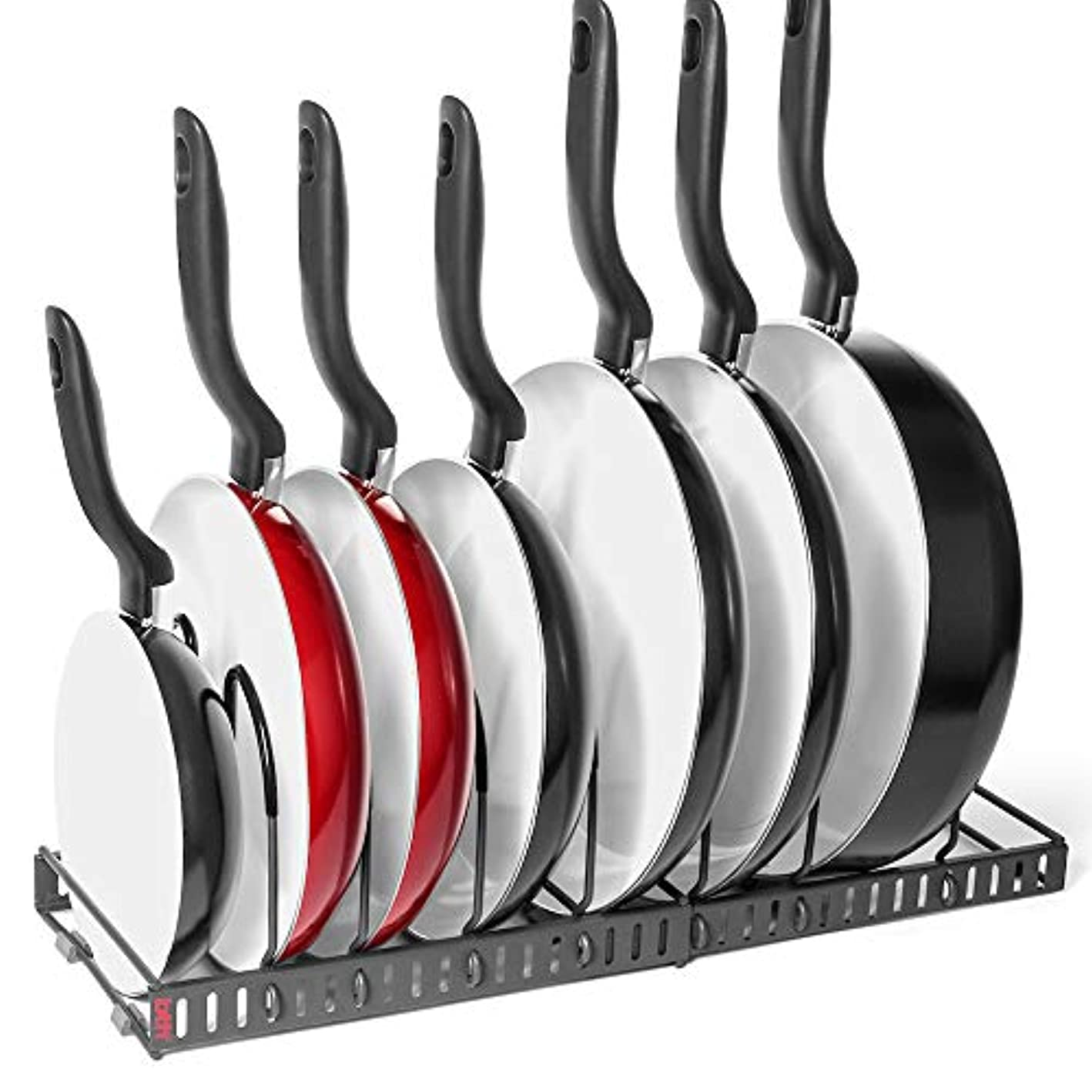 7+ Pans BetterThingsHome Expandable Pan Organizer Rack: Can Be Extended to 22.25