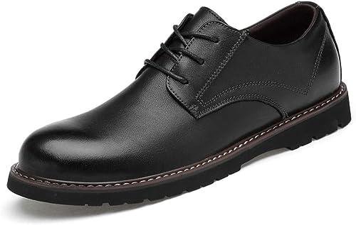 XHD-Chaussures Chaussures de Ville Simples Oxford Décontracté Simples à Bout Rond pour Hommes (Couleur   Noir, Taille   41 EU)