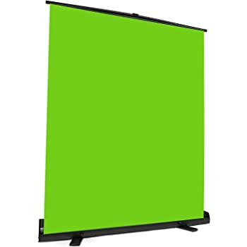 """Upgrade Green Screen Size 61.1x72.5"""" Upgrade Version Collapsible Chromakey PanelBackground Base Frame All in One Portable Design Punch-Free Quick Set Up Easy Lock for Photo Live Game Tiktok Video"""