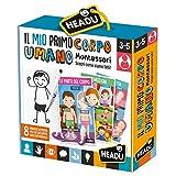 Headu- Il Mio Primo Corpo Umano Montessori El Primer Cuerpo Humano, Multicolor (IT28108)