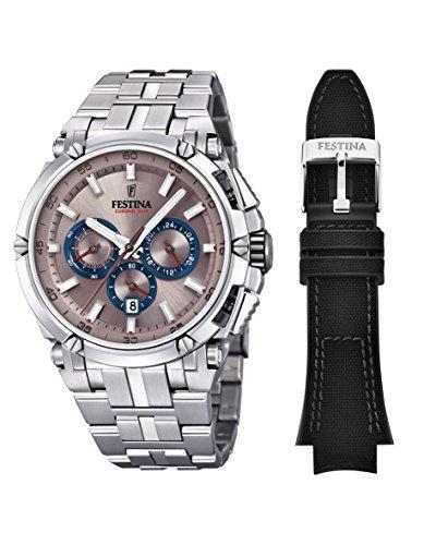 Festina Herren Chronograph Quarz Uhr mit Edelstahl Armband F20327/5