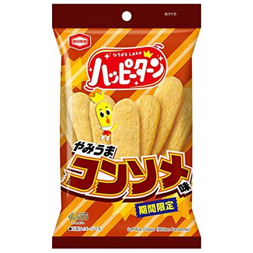 亀田製菓 ハッピーターン やみうまコンソメ味 X1箱(10袋)