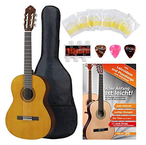 Yamaha CS40 Konzertgitarre Set inkl. Zubehörset - 3/4 Größe - Decke: Fichte - Boden & Zargen: Meranti - Hals: Nato - Griffbrett & Steg: Palisander - Set mit umfangreichem Zubehör