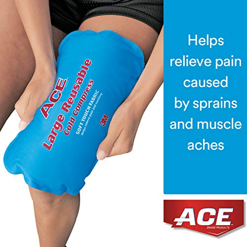 ACE Reusable Cold Compress, Large, Helps Relieve Pain caused by Sprains and Muscle Aches, Money Back Satisfaction Guarantee