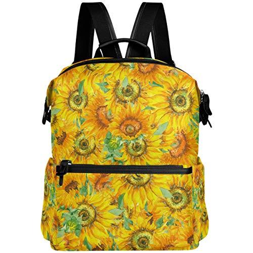 Oarencol Tropical Girasole Vintage Painting Zaino Giallo Floreale Arte Libro Borsa Viaggio Escursioni Campeggio Laptop Daypack