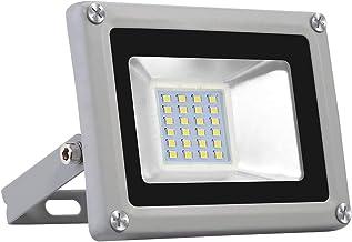 Viugreum Focos LED Exterior, Iluminación interior exterior, Impermeable IP65, Foco proyector LED, Blanco frío/Blanco Cálido (20W Blanco Frío)