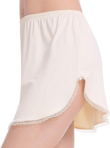Bronze mini skirts size 29 Mancyfit Half Slip For Women Underskirt Short Mini Skirt Slit Lace Trim At Amazon Women S Clothing Store