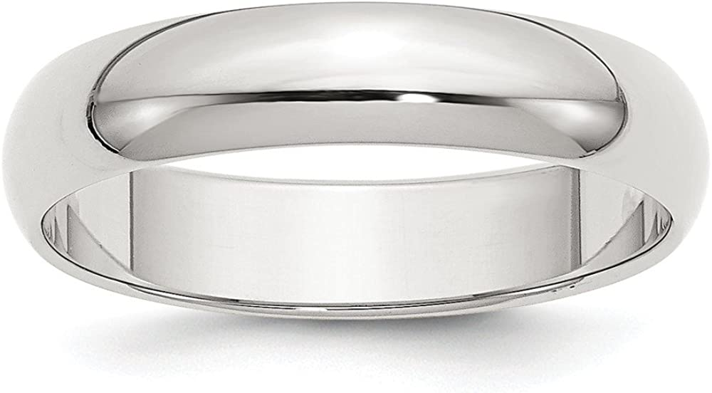Solid 925 Sterling Silver 5mm 国内送料無料 Half-Round Band 超人気 専門店 Wedding