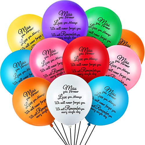 72 Pieces Colorful Memorial Funeral Balloons Remembrance Biodegradable Balloons for Celebration of Life, Balloon Release, Funeral Decoration (Health and Beauty)