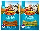 Zuke's Z-Bones Natural Grain-Free Dental Chew Large (Pack of 2), Apple and Carrot - 12 Chew Bones Total