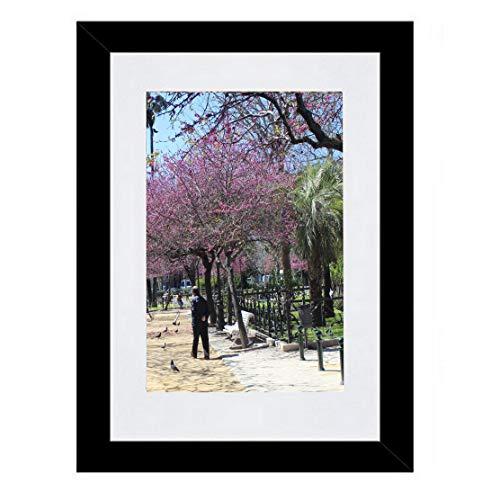 Bilderrahmen Fotorahmen 80x100 cm Schwarz bilderrahmen zum aufhängen MDF Picture Frames Farbe und 40 Verschiedene Größen wählbar ohne Passepartout Rahmen Aliyah