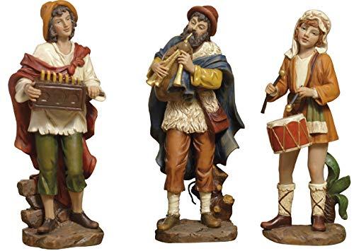 Set 3Figuras músicos Belén 15cm de resina by paben