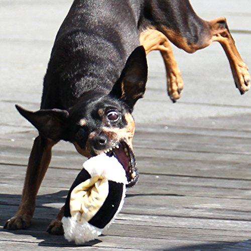iDogアイドッグiToy/ないしょのポケットふっくらおにぎり鳴き笛入りホワイト犬おもちゃ国産