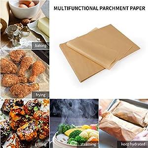 SMARTAKE 200 Pcs Parchment Paper Baking Sheets, 9x13 Inches Non-Stick Precut Baking Parchment, for Baking Grilling Air… |