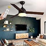 VISDANFO Ventilador de techo LED de 122 cm con iluminación, ventilador de techo con mando a distancia, adecuado para ventiladores de techo de invierno y verano con iluminación, ventilador silencioso
