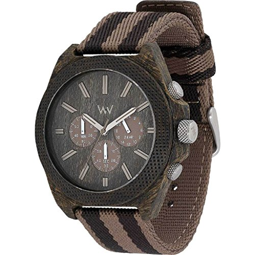 WEWOOD Herren Analog Quarz Smart Watch Armbanduhr mit Stoff Armband WW56002