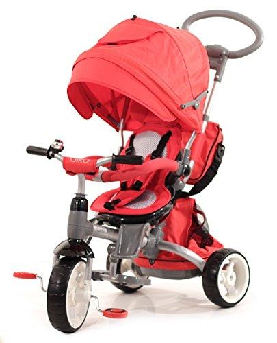 Baby's Clan GIRO.05 - Passeggino/Triciclo Multifunzione 6 in 1, Rosso