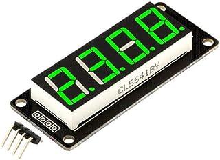 Affichage de Tube d'horloge Anzeige à LED numérique 4 Bits modèle TM1637 de 0,56 Pouces (Vert)