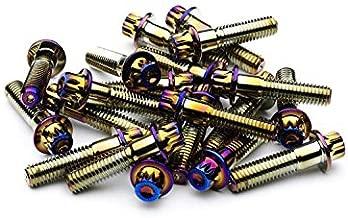 SRR Hardware Neo Chrome Three Piece Split Rim Assembly Bolts M8 x 32mm 10.9 HT Steel for HRE DPE IFORGED ROTIFORM WORK Steel Screws (120)