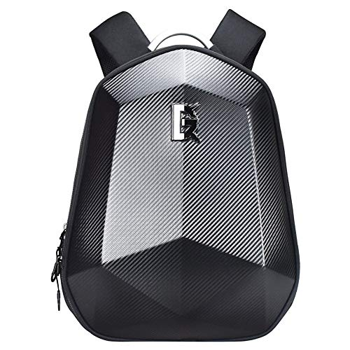 WQSFD Waterproof Large Capacity Motorcycle Hard Shell Backpack, ABS Motorbike Helmet Backpack 36-55L Riding Laptop Bag For Travelling Camping Cycling Storage Bag