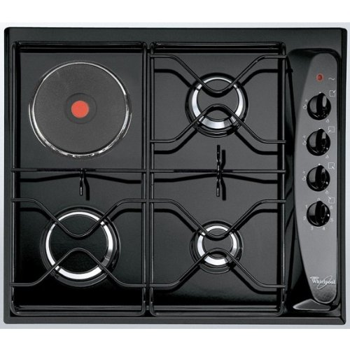 Whirlpool AKM261NB Integrado Combi Negro hobs - Placa (Integrado, Combi, Acero inoxidable, Negro, 4,5 cm, 6,4 cm)
