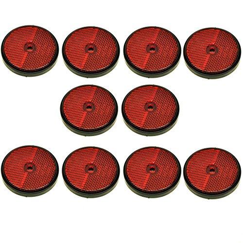 Réflecteur arrière rond rouge Lot de 10 postes pour les remorques Clôture Barrière TR072