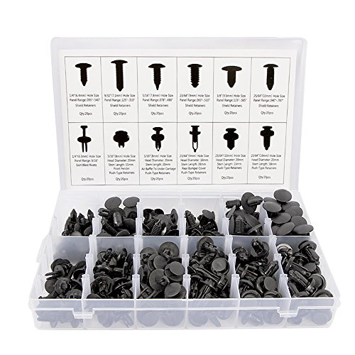 Su   nplusTrade 240 Pcs Push Type Retainer Clips for Toyota GM Ford Honda Acura Chrysler with Plastic Storage Case