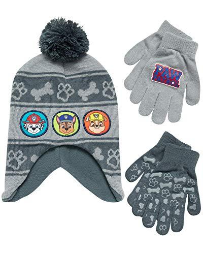 Nickelodeon Boys Paw Patrol Winter Hat, 2 Pair Gloves or Mittens (Toddler/Little Boys)