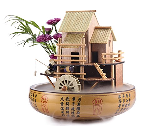 Lifegard Aquatics R440863 Bamboo House Fountain, 10', Brown