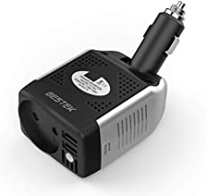 BESTEK Convertisseur Chargeur Allume Cigare Onduleur Transformateur avec 2 Ports USB..
