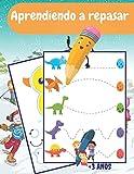 Aprendiendo a repasar: Aprenda a escribir un libro de trazado de líneas | Controlar líneas y formas con un bolígrafo | Actividades de aprendizaje para ... : +3 años : Pre-K to K (libros de preescolar)