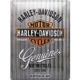 Nostalgic-Art Targa Vintage Harley-Davidson – Metal Wall – Idea regalo per amanti di moto, in metallo, Design retro per decorazione, 30 x 40 cm