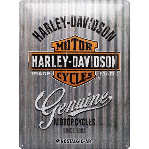 Nostalgic-Art Harley-Davidson – Metal Wall – Geschenk-Idee für Motorrad-Fans, Retro Blechschild, aus Metall, Vintage-Design zur Dekoration, 30 x 40 cm