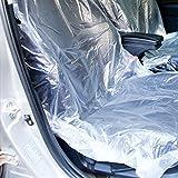 Sedeta 10pcs Car Housse en plastique transparent jetable Housse de protection Garage Forte attraction et durable Protection du siège Taille: 110cm * 55cm * 3cm (L * W * H) Matériau: tissu plastique en