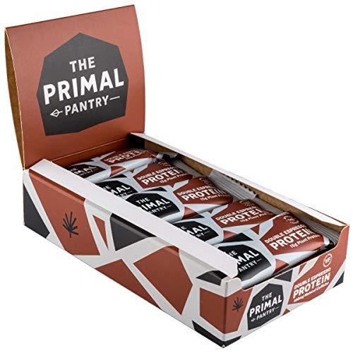 The Primal Pantry Veganer Paleo Protein Riegel - 15x55g (Double Espresso)