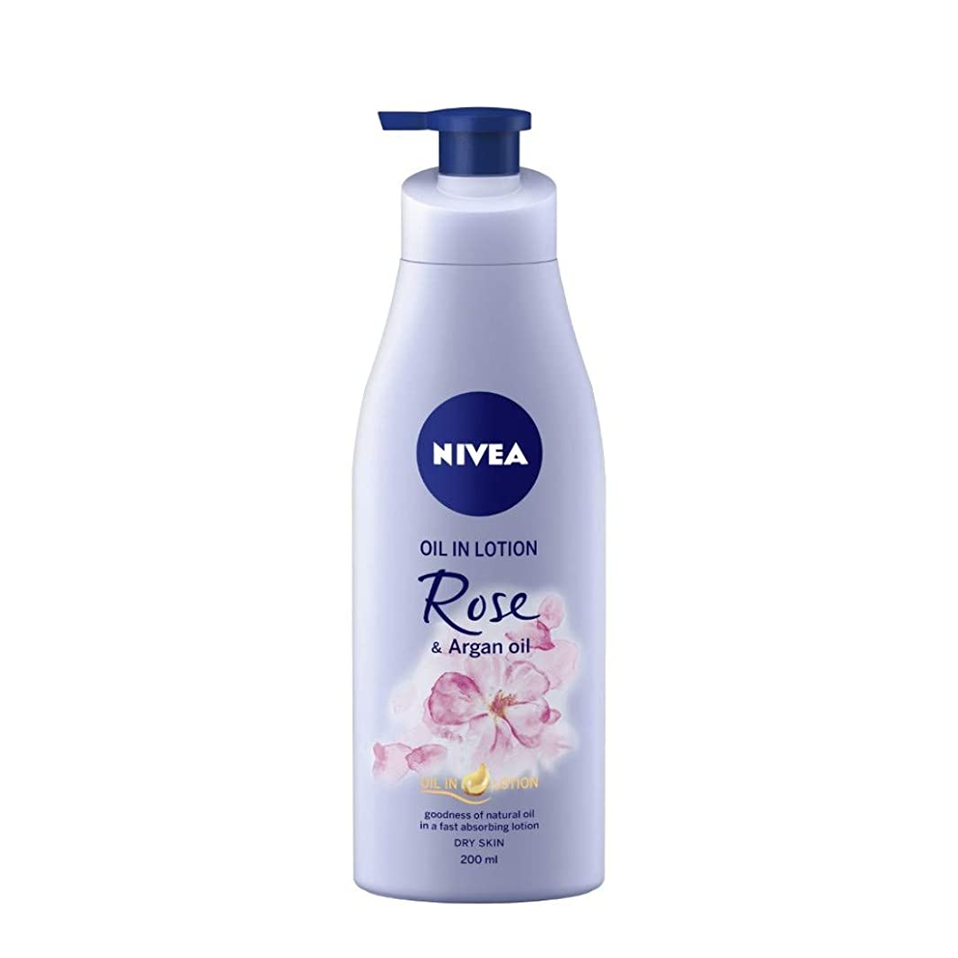 セマフォ取り戻す開いたNIVEA Oil in Lotion, Rose and Argan Oil, 200ml