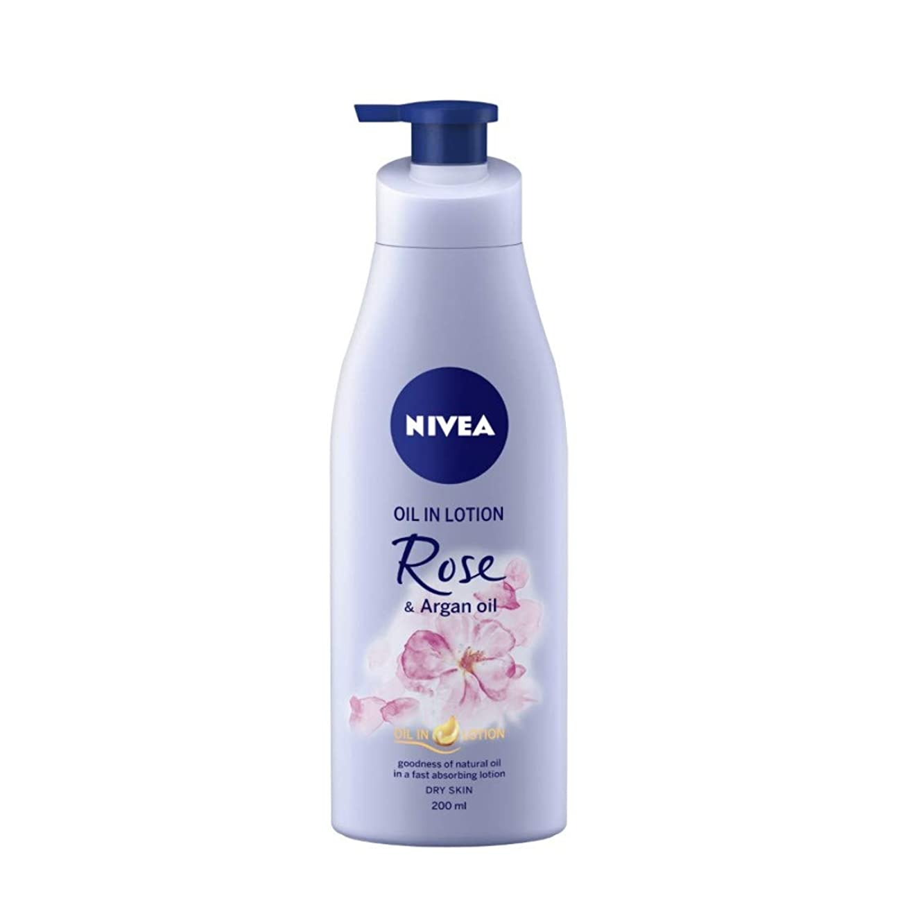 魔術師ライナー旅客NIVEA Oil in Lotion, Rose and Argan Oil, 200ml