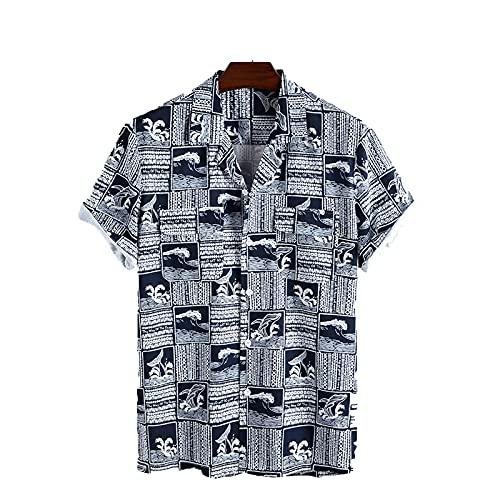 SSBZYES Camisa De Manga Corta para Hombre Camiseta De Manga Corta con Estampado Divertido De Verano para Hombre Camiseta De Playa Informal Camiseta De Manga Corta para Hombre Informal