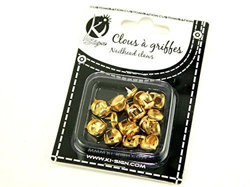 10 mm, rondes en métal Claws-Nailhead/Fashion Lot de 30 piercings (Doré)