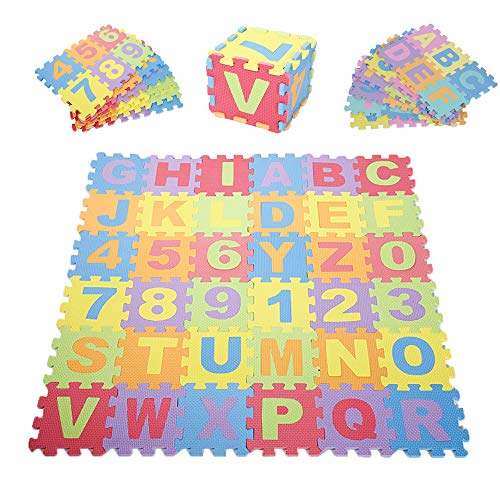 AAERP Puzzelmat voor baby's en kinderen, 36 schuimstofplaten, puzzel voor kinderen, antislip, tapijt, schuimstofmat, speelmat