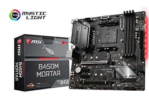 MSI B450M Mortar, Sockel AM4, DDR4, HDMI, DisplayPort, 2x M.2, 2x USB 3.1 Gen2, 6x USB 3.1 Gen1 Micro-ATX Mainboard